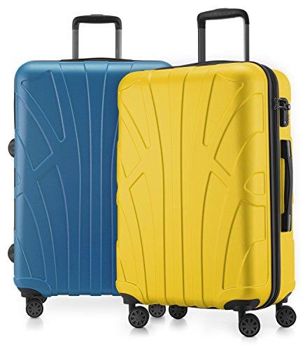 Suitline - 2er Koffer-Set Trolley-Set Rollkoffer Hartschalen-Koffer Reisekoffer, TSA, 66 cm, 100% ABS, Matt