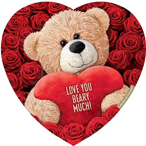 Elmer Chocolate Valentine's Day Safety and trust Teddy Shaped Heart Easy-to-use Chocolat Bear