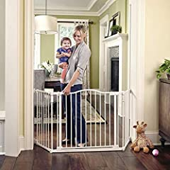 NEW NAME - SAME GREAT BRAND YOU TRUST: Worry-free safety! Toddleroo by North States Deluxe Décor Gate is ideal for a variety of openings. It shuts firmly yet easily with one simple push, keeping your child safe and secure. Safe for babies 6-24 months...