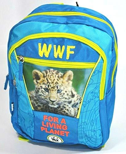 MINI ZAINO ZAINETTO WWF adventure ASILO SCUOLA doppio scomparto TONDO + omaggio cartolina WWF + omaggio penna colorata