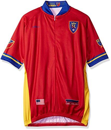 MLS Real Salt Lake Men's Primary Short Sleeve Cycling Jersey, Medium, Red