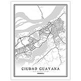 YUAN Leinwand Bild,Venezuela Ciudad Guayana Stadt Karte