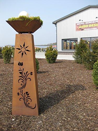 Jabo Design Rost Säule konisch + Schale RS91+S11 XL Säulen Blumen Deko Garten