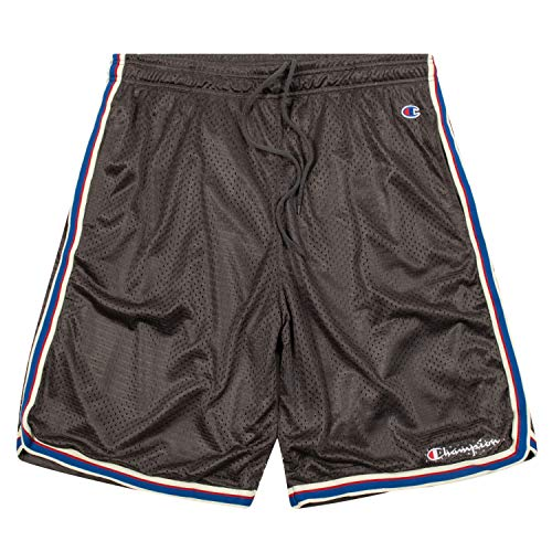 Champion Shorts, Big and Tall Shorts for Men, Classic Mesh Mens Shorts Dark Grey