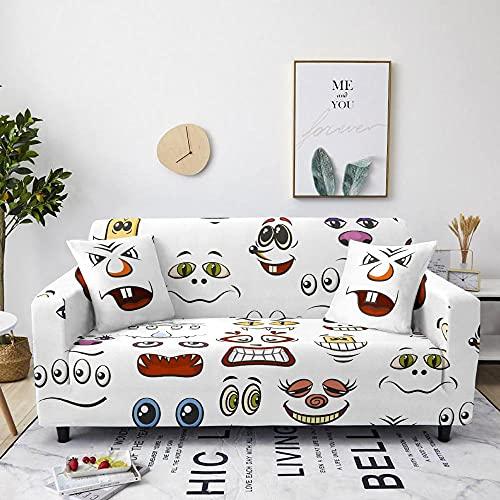 AHKGGM Funda de sofá Estampada Rostro Humano Abstracto Blanco 1 plazas: 90-140cm
