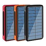 SPARKX Chargeur Solaire 30000Mah Portable Power Bank Grand Camping Lumière Portable Chargeur Externe Batterie Compatible avec Smartphone et Plus (3 pièces),10000mA