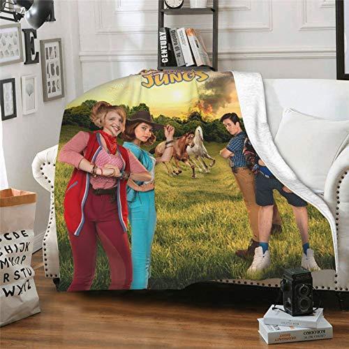 Decke für Kinder, Filme, TV-Show, Bibi & Tina, Mädchen gegen Jungen, Tina Martin, Klimaanlage, Fleece-Überwurf, Decke, flauschig, für alle Jahreszeiten