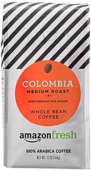 AmazonFresh Colombia Whole Bean Coffee Medium Roast 12 Ounce