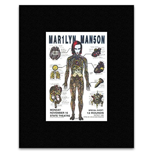 Stick It On Your Wall Mini-Poster, Marilyn Manson - State Theatre Detroit 1998, 29,5 x 24 cm