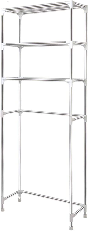 Kitchen Storage Rack Bathroom Space Saver 3 Layer Stainless Steel Narrow Toilet Storage Shelf Organisation (Size   Width-64.5cm)