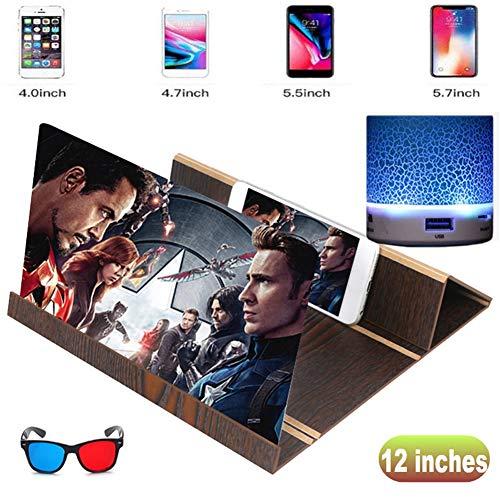 Smartphone vergrootscherm, groot scherm oogbeschermingsvergrootglas inklapbaar luifel videoprojectieversterker 3D universeel scherm vergrootglas B