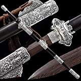 Kuan Katana bokken Katana Japonesa Espada Espada de Entrenamiento de Espada Hecha a Mano,de rol,Vaina de Madera Pura de 103 cm,Regalo
