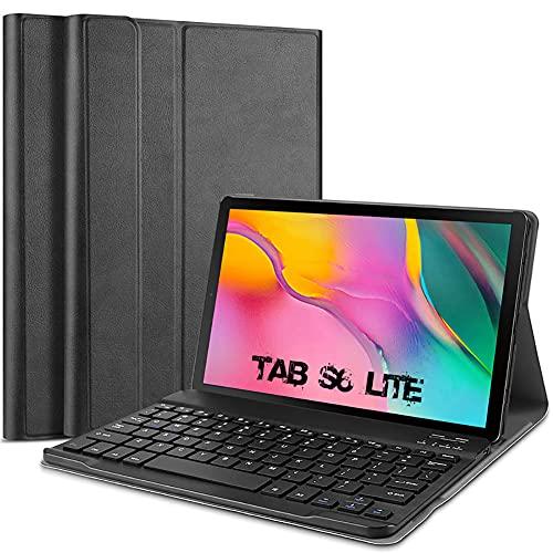 Funda para Samsung Galaxy Tab S6 Lite de 10,4 pulgadas P610/P615, de piel sintética, con teclado extraíble, ultrafina, con lápiz de soporte, Smart Case para Samsung Galaxy Tab S6 Lite