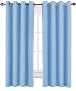 NICETOWN Bedroom Blackout Curtain Panels – Home Fashion Window Treatment Ring Top..