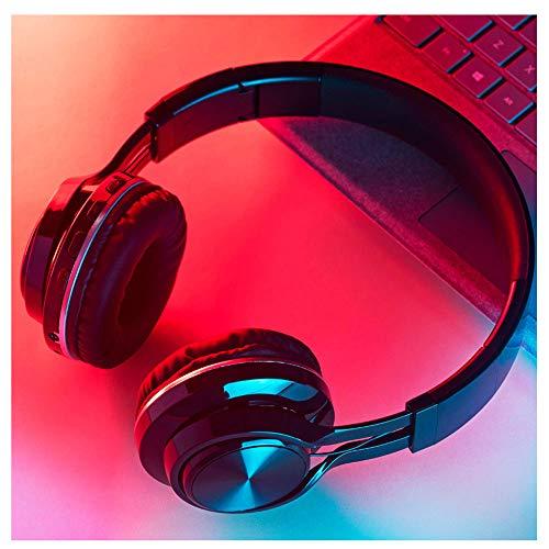 NoNo oordopjes met hoofd gemonteerd, vouwbaar design, slagbas bluetooth-koptelefoon, 1000 mAh batterij, continue 24-uurs afspeling, kaarten, draadloze bluetooth- en kabelweergave