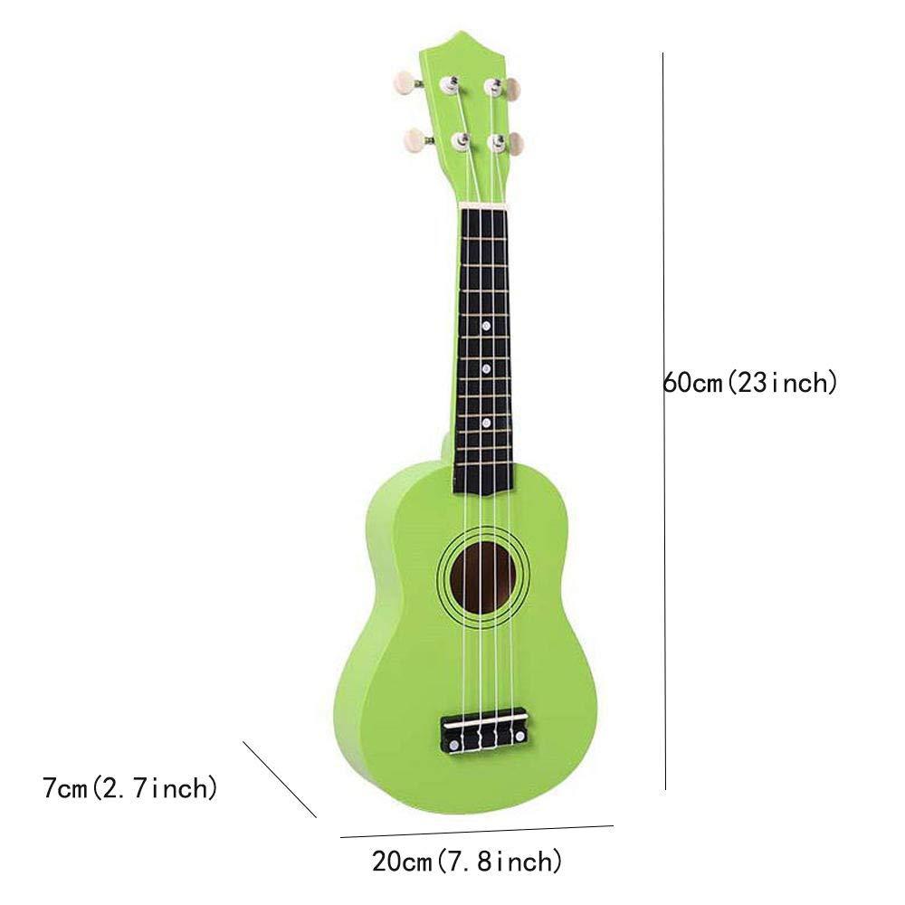 Ukelele Hawái Principiante Cuatro cuerdas Guitarra de madera de 23 ...