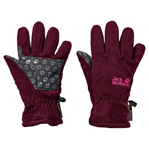 Jack Wolfskin Kinder STORMLOCK Glove Kids Handschuhe, Dark Berry, 140