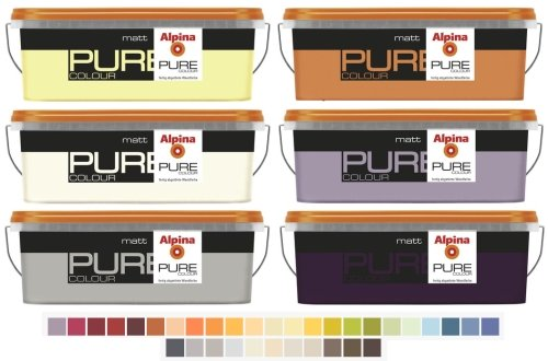 ALPINA Pure Colour, 2,5 L. Wandfarbe, Matt, Kokos, Braun