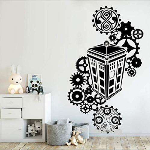 Wandtattoos Mode Home Dekoration 94 cm * 56 cm Tardis Arzt, der Silhouette Vinyl Decals berühmten Polizei, Kinder Schlafzimmer Wohnzimmer Kinderzimmer Dekor Wandmalereien