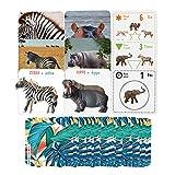 Percilun Montessori Animales Juguetes Niños 2 Años, Tarjetas Educativas,...