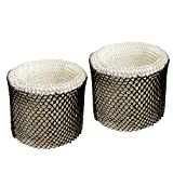 HQRP 2-Pack Wick Filter Compatible with Graco 2H03 2H02 2H032 4.0 Gallon, TrueAir 05521 Humidifiers Coaster