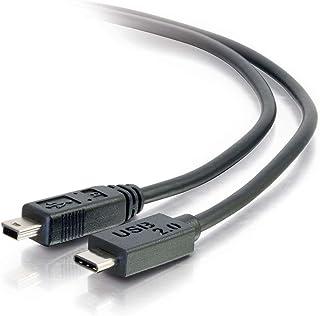 C2G / Cables To Go 28857 USB 2.0 USB-C to USB Mini-B Cable Male/Male (12 Feet)