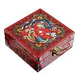Laogg Caja Joyero Chino,Caja de joyería Caja de Almacenamiento de colección de Joyas de Olmo Viejo Ruso con Joya Muebles y Regalos orientales