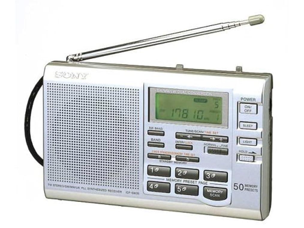 ぐるぐる麺老人SONY ICF-SW35 FMラジオ