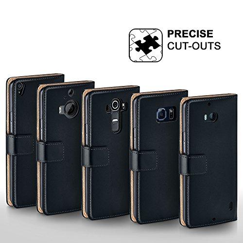 MoEx® Booklet mit Flip Funktion [360 Grad Voll-Schutz] für Huawei P9 Plus | Geldfach und Kartenfach + Stand-Funktion und Magnet-Verschluss, Schwarz - 4