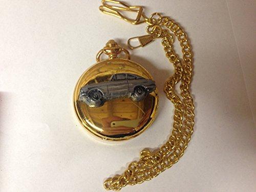 Bond Equipe GT4S ref29 emblema de coche con efecto peltre en una caja de oro pulido para hombre regalo de cuarzo reloj de bolsillo hecho en Sheffield