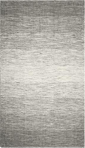 FAB HAB Stockholm - Tapis Gris en Polyéthylène recyclé (Fibres Polyester) pour intérieur/extérieur (60 cm x 90 cm)