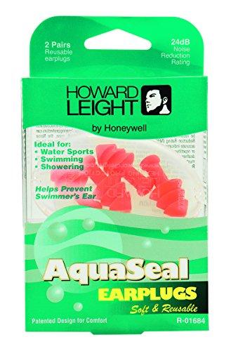 Howard Leight by Honeywell R-01684 AquaSeal Water-Blocking Reusable Earplugs, 2 Pairs, 0.05 Pound