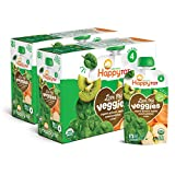 Happy Tot Organic Stage 4 Baby Food Love My Veggies Spinach Apple Sweet Potato & Kiwi, 4.22 Ounce...