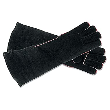 Minuteman International Long  Fireplace Hearth Barbeque Gloves, Black