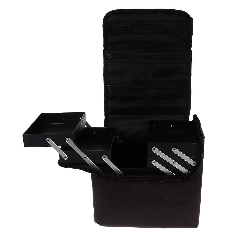 治安判事違うサラダBaoblaze プロ 化粧品箱 メイクボックス 化粧ケース 多機能 持ち運び 多層トレイ 大容量 - ブラック