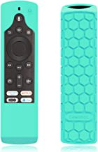 CaseBot Silicone Case for Fire TV Edition Remote - Honey Comb Series [Anti Slip] Shock Proof Cover for Amazon All-New Insignia/Toshiba 4K Smart TV Voice Remote/Element Smart TV Voice Remote, Turquoise