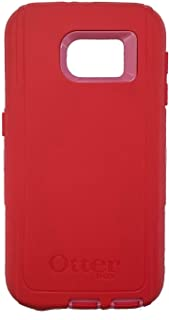 OtterBox Defender Series for Samsung Galaxy S6 (Case Only) - Bulk Packaging - (Scarlet Red/Hibiscus Pink)