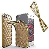 Urcover® Quilted Diamond Back-Hülle kompatibel mit Apple iPhone 7/8 Schutz-Hülle | TPU/Silikonhülle in Champagner Gold | Ultra Slim Handyhülle | Crystal Cover Tasche | leichte Schale