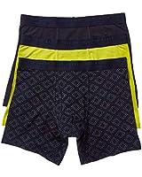 Ted Baker Men's Underwear Stretch Cotton Boxer Briefs, 3 Pack, Navy/Teeme/Sulphur Spring, XL