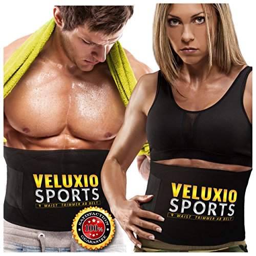 Waist Trimmer Ab Belt (Elite Edition) - Adjustable Weight Loss Sauna Belt...