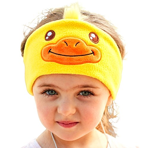 Price comparison product image FIRIK Kids Headphones Volume Limited Soft Children Fleece Headband Size Adjustable Toddler Headphones Perfect for Travel,  Home, School and Christmas Birthday Gift - Duck