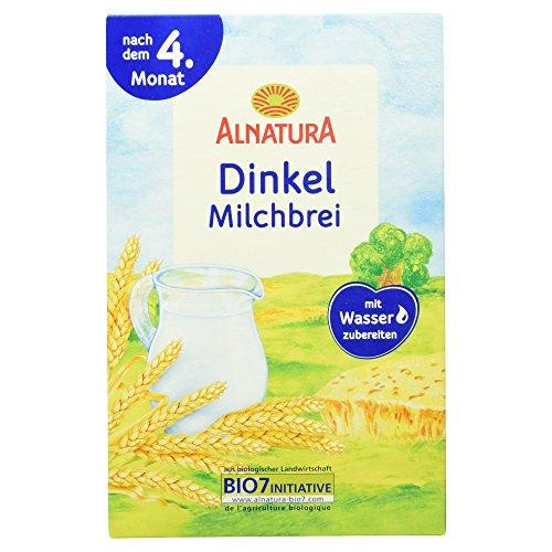 Alnatura Bio Dinkel-Milchbrei, 6er Pack (6 x 250 g)