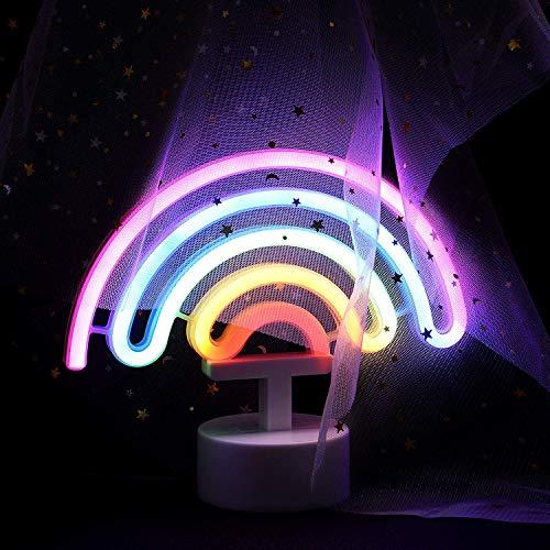Veilleuses Lampe De Chambre d'enfant Night Light De Neon Signs pour Bébé Enfant (Arc en Ciel).
