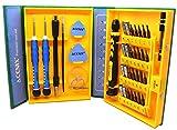 ACENIX® Kit d'outils 38 en 1 pour iPhone 5C 5S 5G 4S 4G iPad 2 3 4 5 6 6s Plus Jeu de tournevis [matériau en alliage d'acier S2]