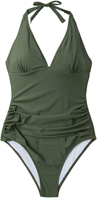 CS&ONES OnePiece Swimsuit Solid Monokini Bathing Suits Monokini Beach Swimwear