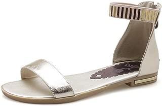 BalaMasa Womens ASL06861 Leather Fashion Sandals
