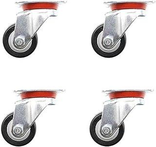 MUMA 2インチ 黒 ユニバーサルフットホイール ナイロンホイール 家具ホイール 防塵 アンチラップ (Color : Universal wheel, Size : 2 inch 4 pieces)