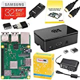 Includes Made in UK Raspberry Pi 3 B+ (B Plus) with 1.4 GHz 64-bit Quad-Core Processor, 1 GB RAM Dual Band 2.4GHz and 5GHz IEEE 802.11.b/g/n/ac Wireless LAN, Enhanced Ethernet Performance 32 GB Samsung EVO+ Micro SD Card (Class 10) Pre-loaded with NO...