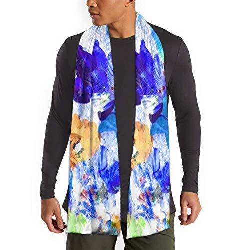 Bufanda de moda de invierno para hombres y mujeres Pintura de acuarela abstracta Fondo floral Bufandas largas lisas clidas y suaves para hombres - Bufandas de algodn para invierno
