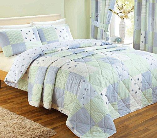 J Rosenthal und Son Ltd Dreams 'n' Drapes PatchworkTagesdecke für Kingsize, blau